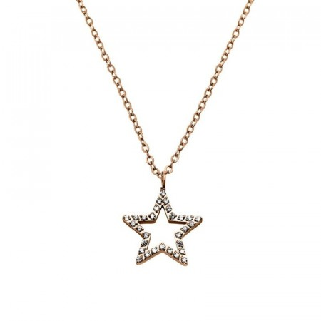 Nova cz Necklace Rose Gold