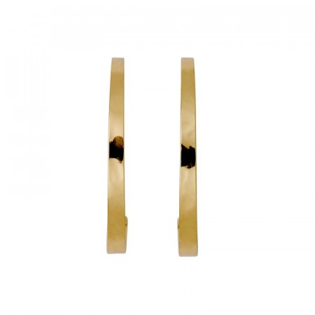 Pilgrim Medium Hoops Stud Earrings