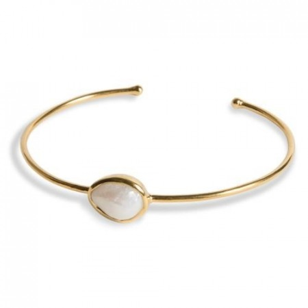 Gull bangle Pure med perle