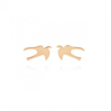 Swallow rose gold plated earring
