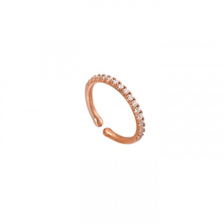 Kennedy ring rose gold/crystal
