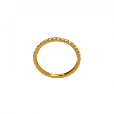 Glow ring micro matt gold