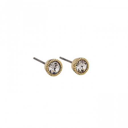 Miranda small stone ear gold/clear