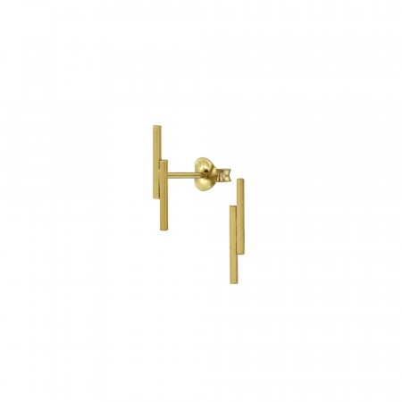 Lara double bar stud earrings