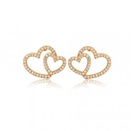 Wild at heart gold earrings