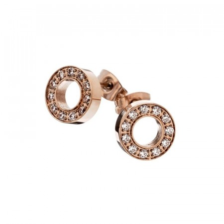 Eternity studs rose gold