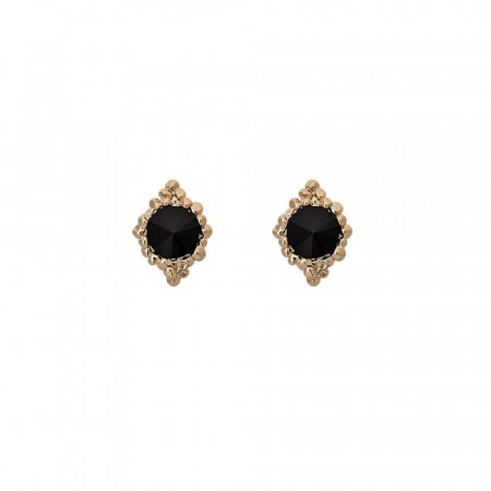 Miss Bonnie earrings jet/gold