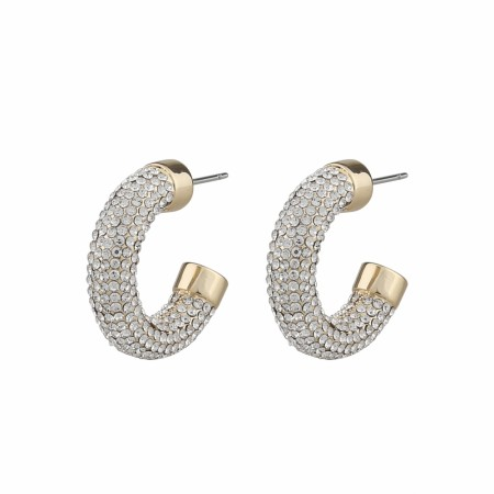 SNÖ Later big oval earring gold/clear