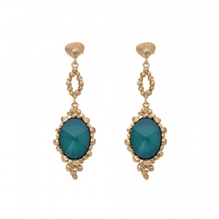 Naomi earrings royal green
