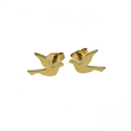 Dove studs small gold
