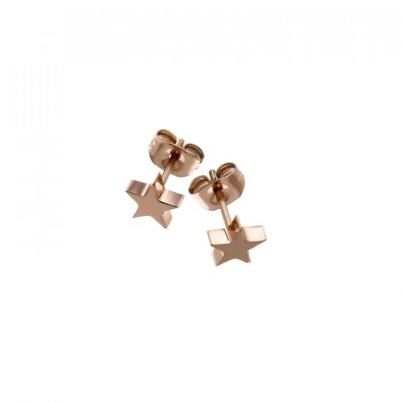 Star studs small rosegold