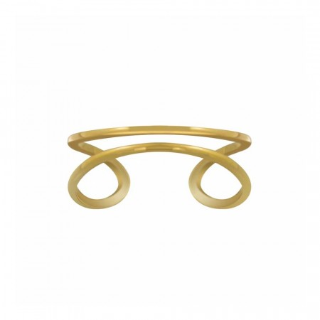Gaia gold double line ring