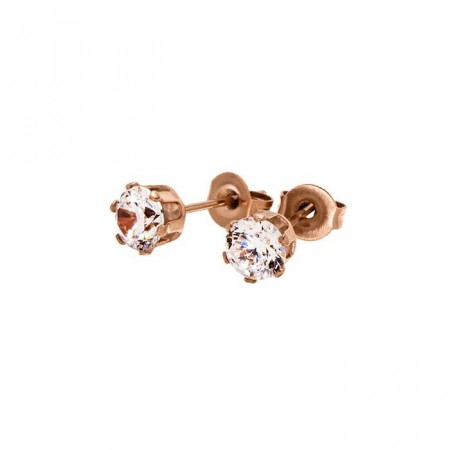 Crown Studs Rose Gold