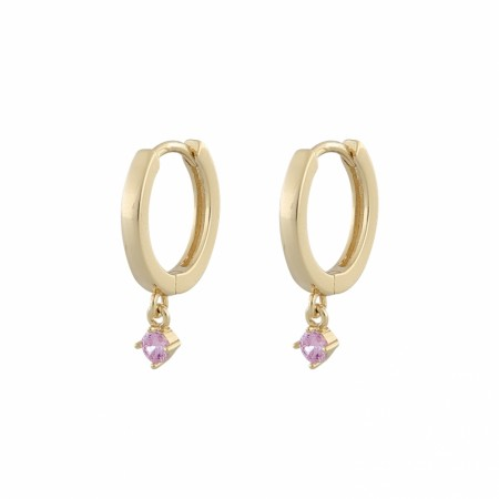 SNÖ Camille small ring ear gold/pink