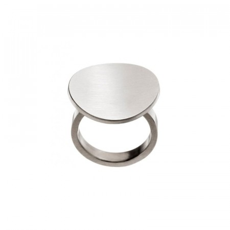 Concave Ring Matt Steel