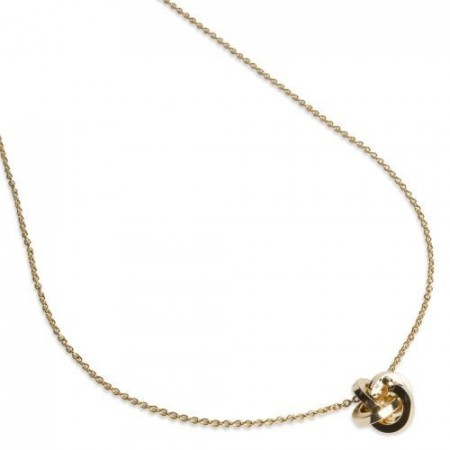 Knutesmykke Knot necklace gold