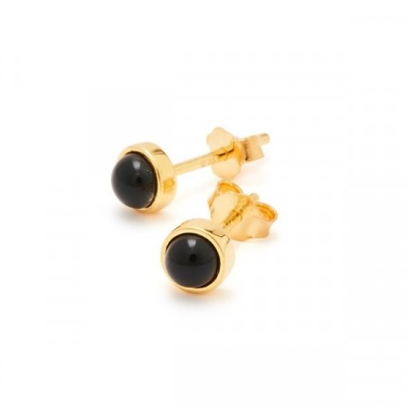 Fall earrings with black pearls