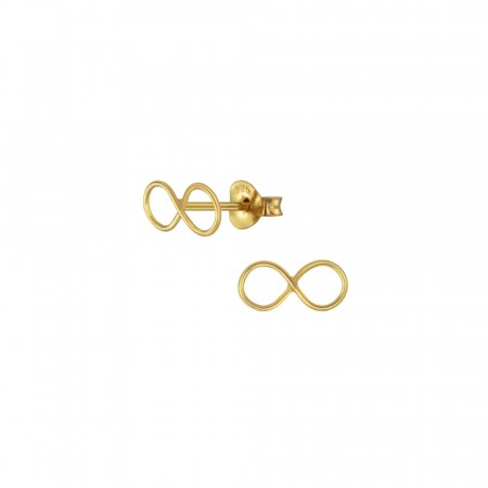 14K gullbelagte Infinity mini earrings