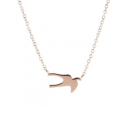 Swallow mini rose gold plated necklace