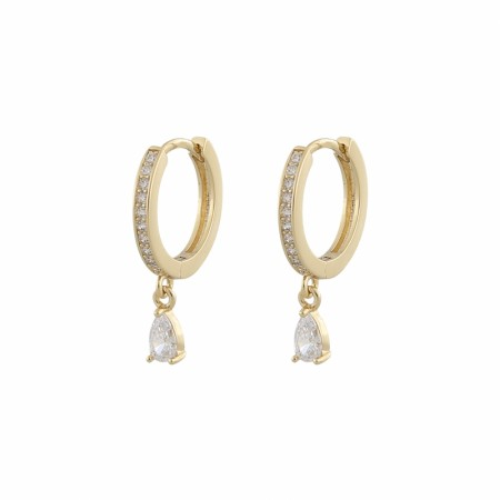 SNÖ Camille drop ring ear gold/clear