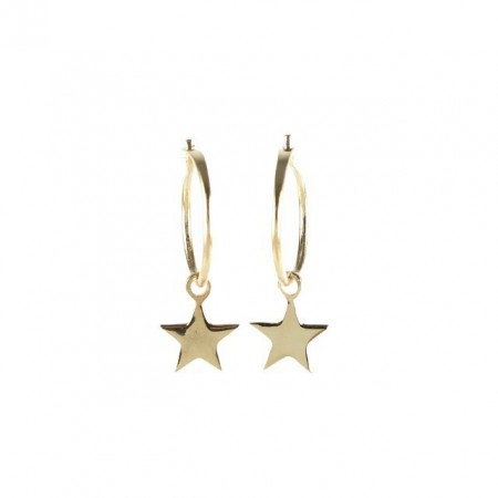 Star rose gold plated earring