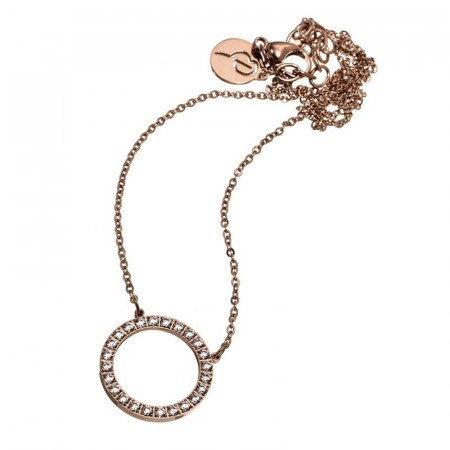 Glow Necklace Short Rose Gold