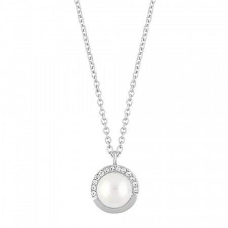 SNÖ Celine small pendant necklace silver/white