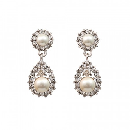 Sofia earrings pearl creme