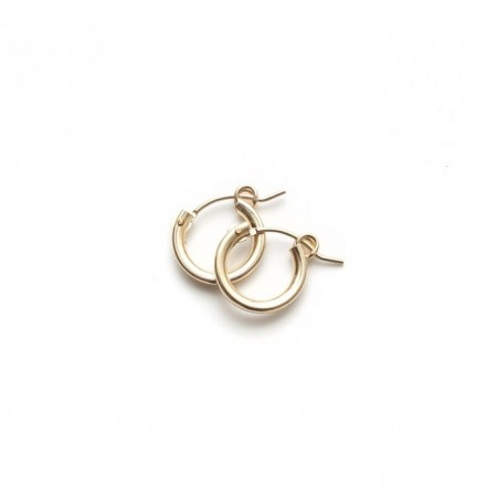 Gold hoops small size