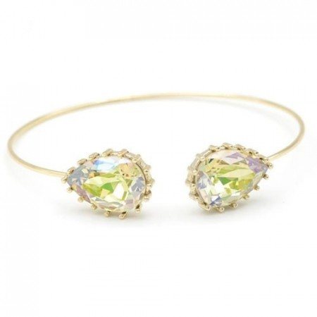 Upside drop bangle luminous green