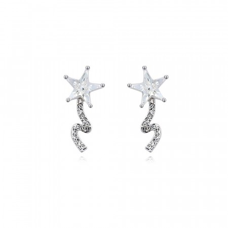 Shooting star earrings clear