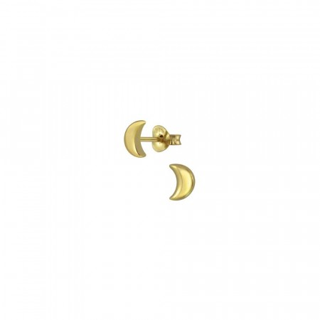 14K gullbelagte Half moon mini earrings