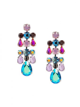 Multicolored Bisous earring