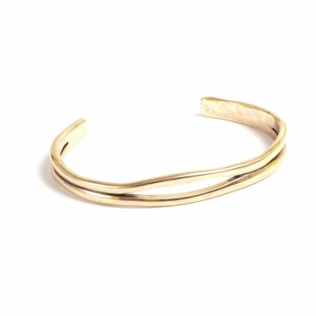 A&C bracelet cuff sculptured hoops