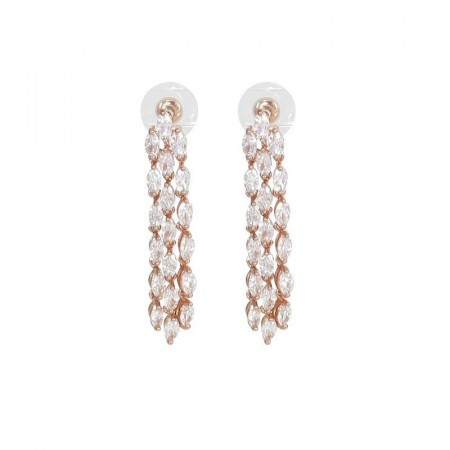 Sophie earrings clear/rosegold