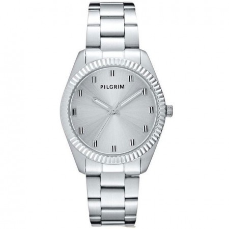 PILGRIM klokke Autumn metal silver edition