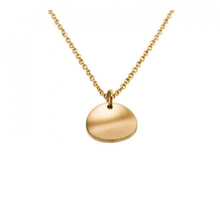 Concave Necklace Short Matt Gold