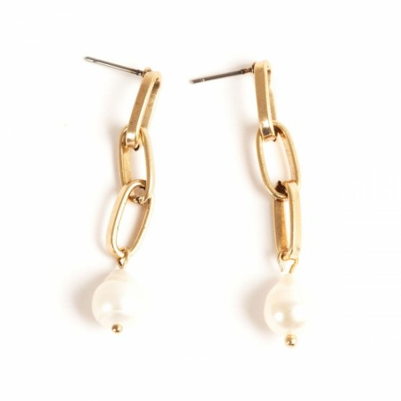 A&C chain earrings Freshwater pearl