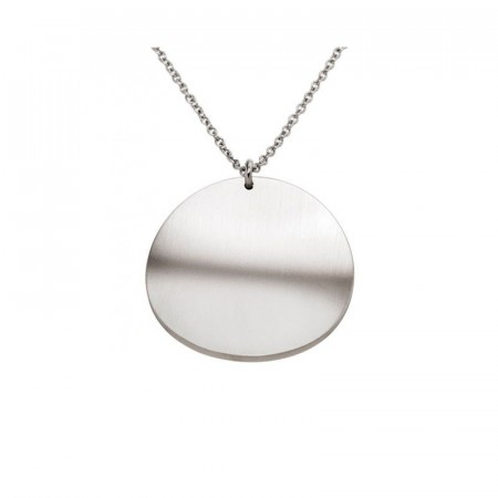 Concave Necklace Matt Steel