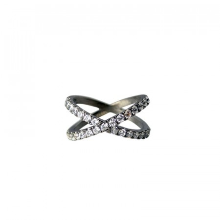 Ring Emmie X black rhodium