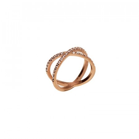 Glow X ring rose gold