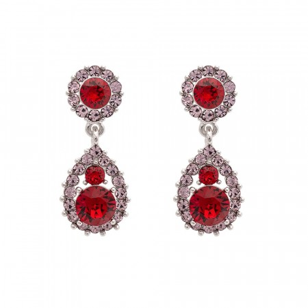 Sofia earrings scarlet
