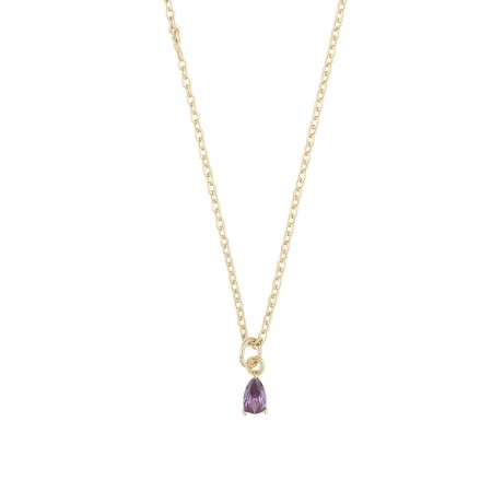 SNÖ Camille small pendant necklace gold/lilac