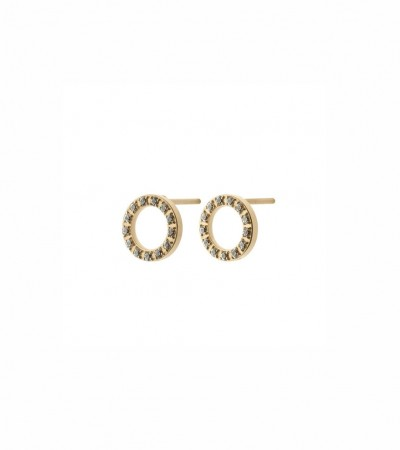 Edblad Glow studs mini matt gold