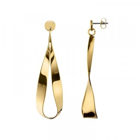 Dyrberg/Kern Arc shiny gold earrings