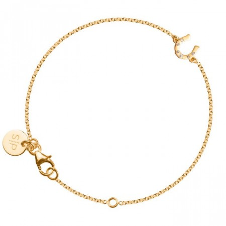 Lucky me bracelet horseshoe gold