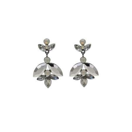 Audrey earrings hematite grey
