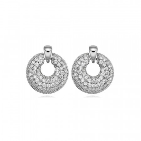 Fancy pancy silver earrings