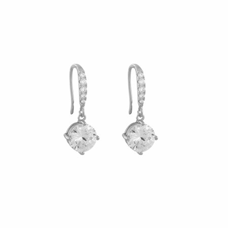 SNÖ Luire stone pendant earring silver/clear
