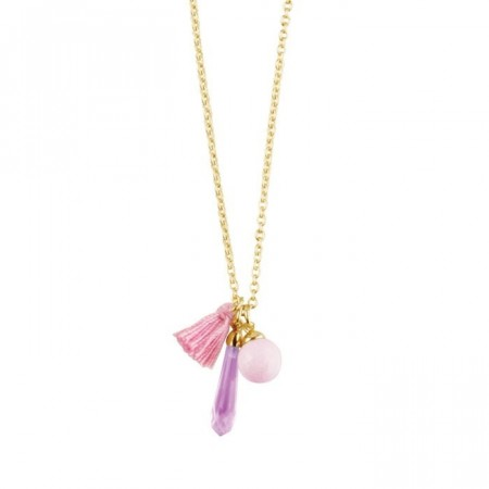 Dyrberg/Kern Sissy necklace rose quartz